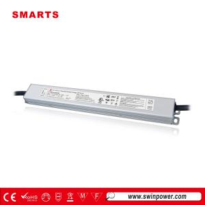 Fuente de alimentación led regulable de tamaño delgado 12v 2.5a 30w 100-277vac para tira led - Swin Power