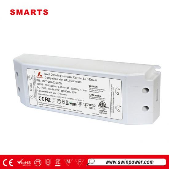 60-86vdc 350ma 30watt dali dimmable led power supply
