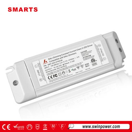 plastic cover dali dimmable constant current led driver
