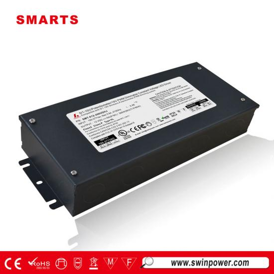 12v 300w class 2 0-10v dimmable led driver